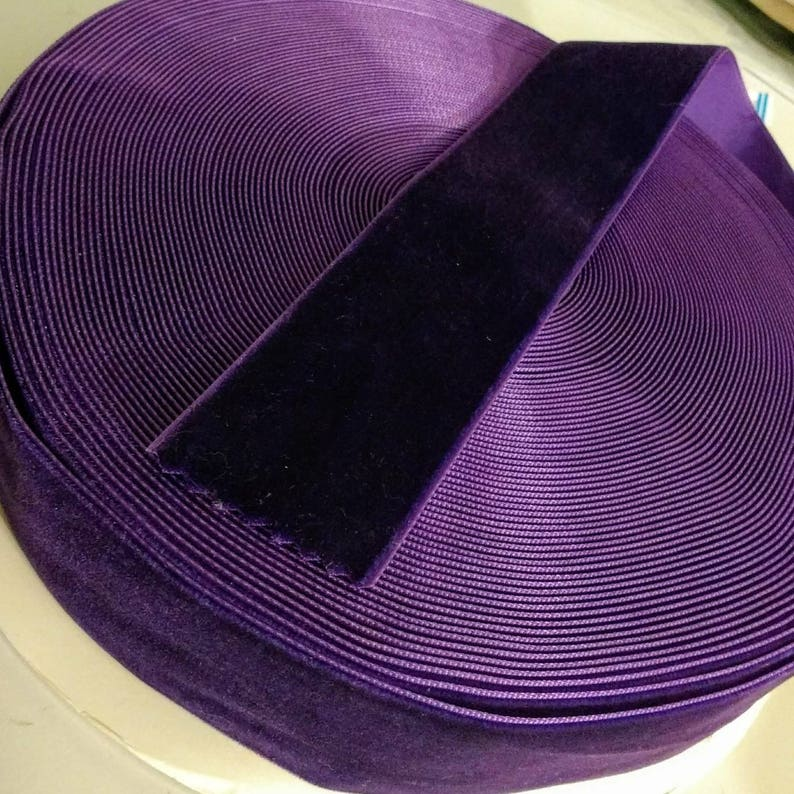 Dark Purple Velvet Ribbon for Bows Floral and Millinery image 0