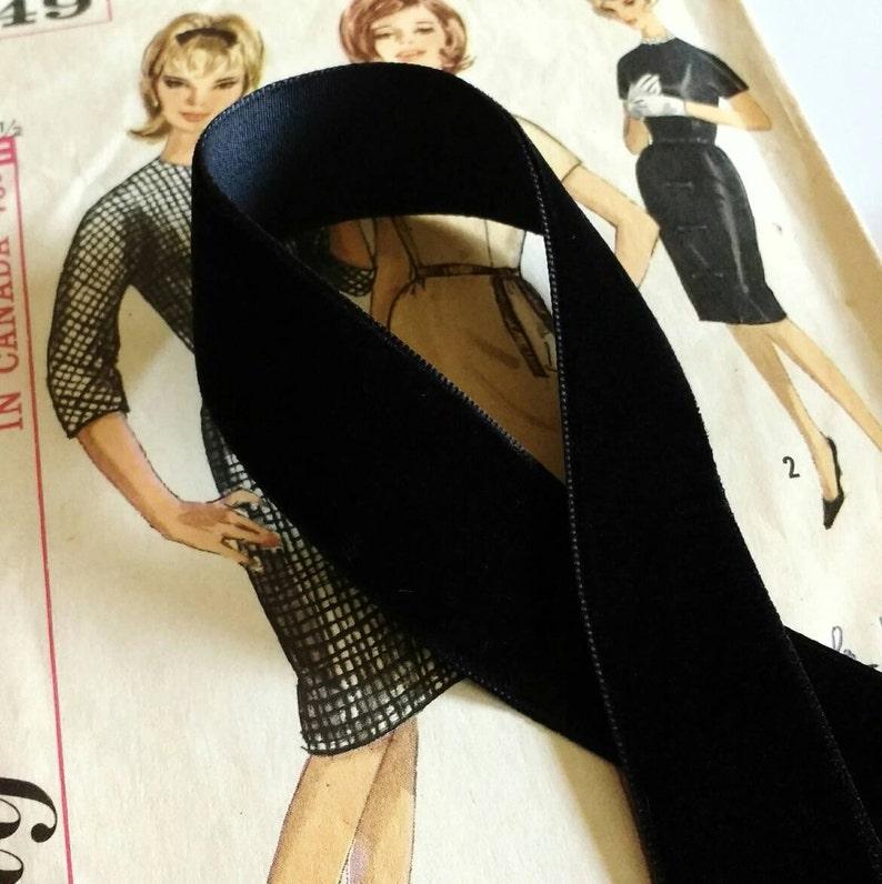 Black Velvet Ribbon for Bows Floral and Millinery 1 image 0