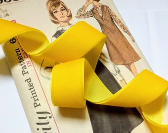 """Mustard Yellow Velvet Ribbon for Bows, Floral, and Millinery 1"""" and 1.5"""""""
