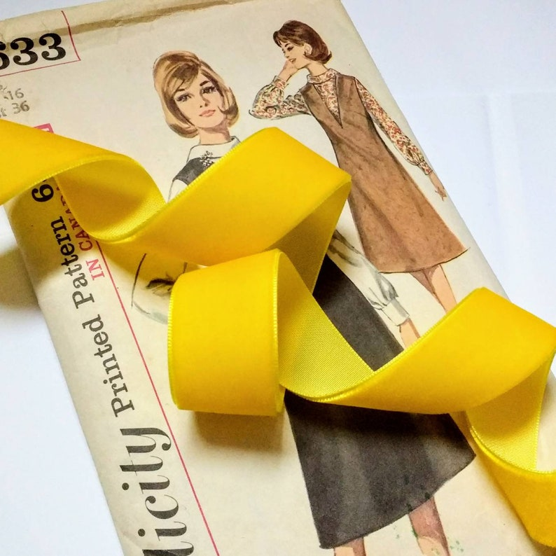Mustard Yellow Velvet Ribbon for Bows Floral and Millinery image 1
