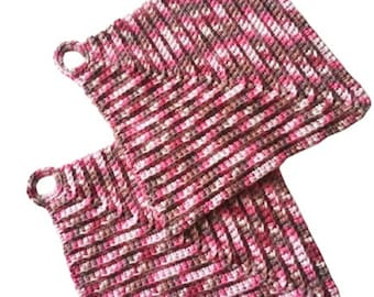 Pot holders like from grandma - thick pot holders classically crocheted 19 x 19 cm