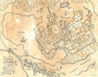 Wizarding world map | Etsy