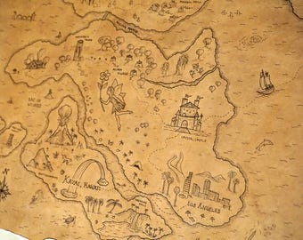 Children's Birthday Pirate Map - Custom Treasure Map