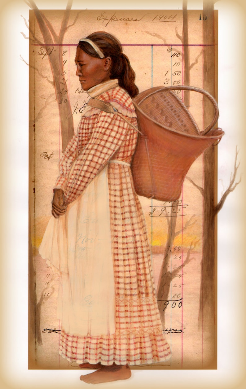 BEAUTIFUL CHOCTAW WOMAN Print in traditional dress with  677b8ef580