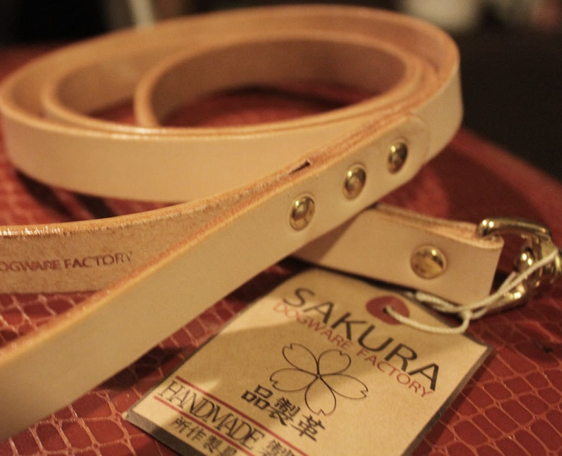 Japanese  58inch width leather leash for largemediumsmall dogs