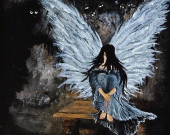 Demon Within Gothic Angel painting By J. Morley Spiritual