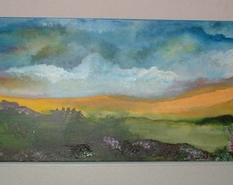 Over the Rainbow Original Painting, By J Morley Spiritual Meadowlands