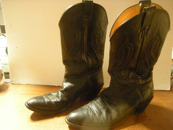 vtge cowboy boots-Nocona boots-size 12-leather-men
