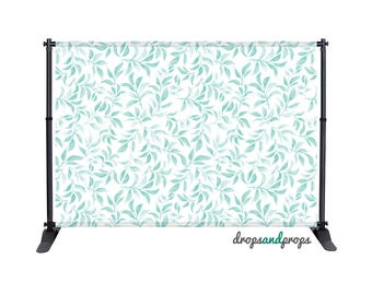 Teal Leaves - Photography Backdrop