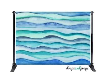 Blue Ocean Waves - Photography Backdrop