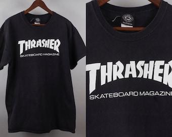 5681fe165586 90s Thrasher T Shirt Skateboarding Magazine Large