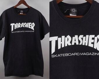 cdd93db76601 90s Thrasher T Shirt Skateboarding Magazine Large