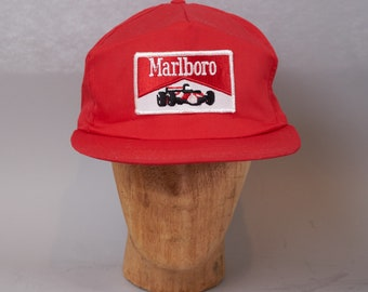 7c642be1 70s Marlboro Racing Patch Snapback Cap