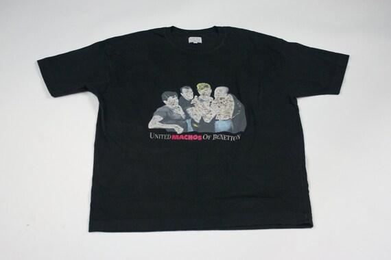 80 s Benetton T s Shirt Vintage 1980 s T United Colors de Benetton noir Extra Large XL T-Shirt homme 204df2