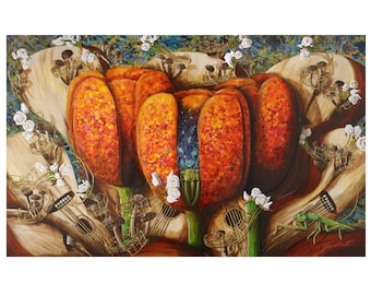 """Giclee Print - """"Spotted Tulips"""""""