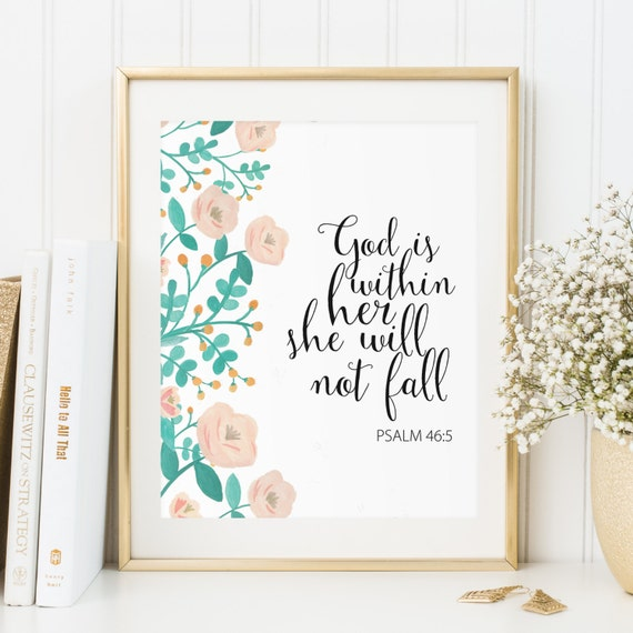 Scripture Print Christian Wall Art Bible Verse Wall Art | Etsy