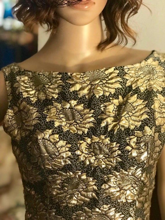 Stunning Gold Lame' Evening Gown 1960's