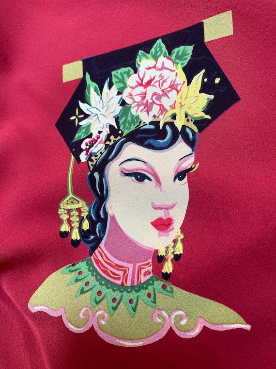 Super Harari Vintage Oriental Silk Dress