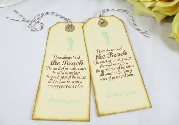 Wedding Gift For Destination Wedding: Items Similar To Aqua Blue Destination Wedding Favor Tags