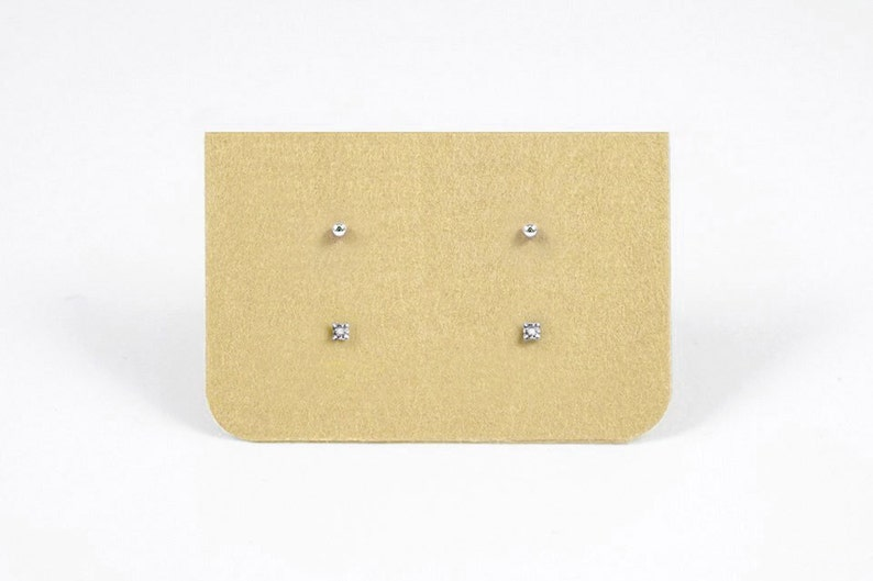 b8b29b3ce Tiny White Topaz Gem Earrings and Dot Stud Earrings Set   Etsy