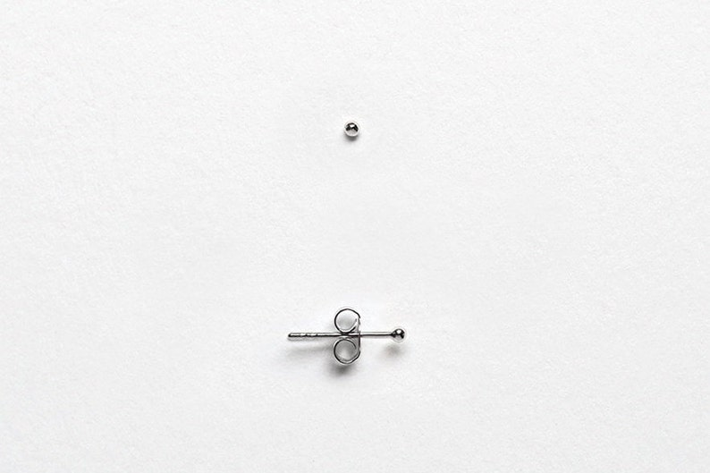c9743b1db Tiny 1.5mm Dot Earrings Set of Two Pairs Sterling Silver Round   Etsy