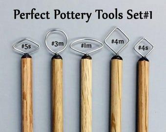 Pottery Handle Tool Set #1