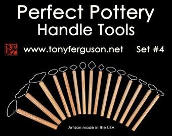 15 Pottery Handle Tools Set #4