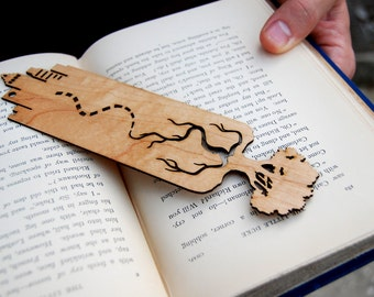 City Tree Scape, Wooden Bookmark