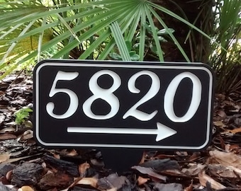 "Address Sign Arts n Crafts Metal Address Sign 2,3 or 4 No/'s Black powder 5/"" tall"