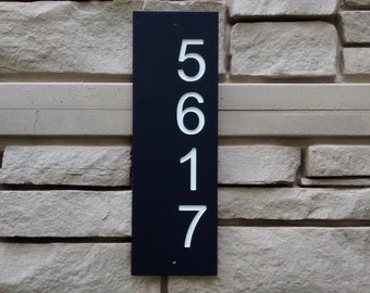 House Numbers Sign, Address Numbers Sign, Address Plaque, Numbers Plaque, Vertical Address Sign, Address Sign.