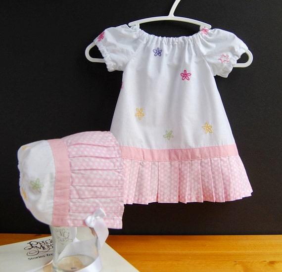 e72d116e8a8e Upcycled Newborn Dress and Bonnet Christening Dress