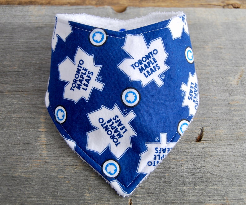 Toronto Maple Leafs Bandana Bib Upcycled Drool Bib Hockey  bb2e4c50f