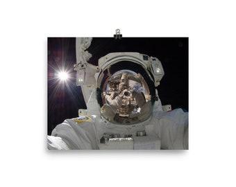 Astronaut Selfie Poster