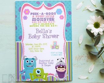 Monsters inc baby shower invitations etsy girl monsters inc inspired baby shower invitation monster baby shower neutral shower baby girl baby shower boo baby shower filmwisefo