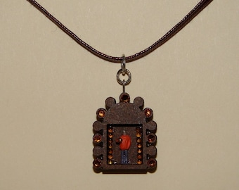 OOAK Assemblage Necklace, Shrine Man