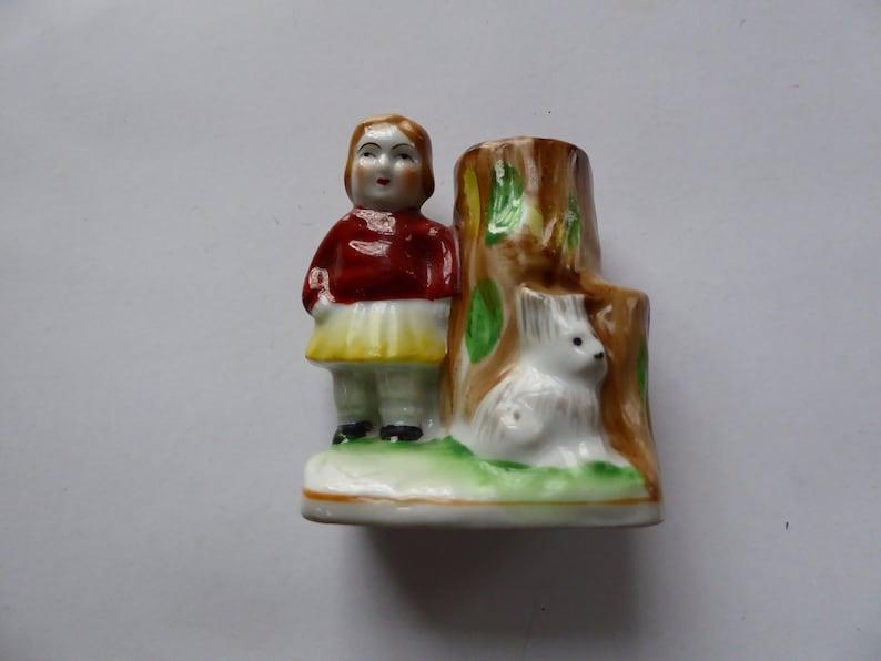Vintage 1940/'s MK made in Japan Porcelain child/'s Toothbrush Holder