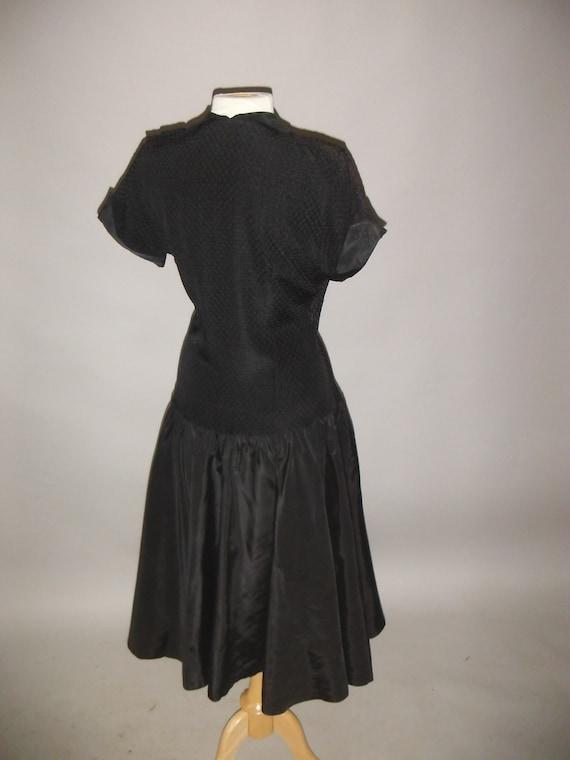 Elegant Beautiful Black Party Dress, 1940's, M - image 4