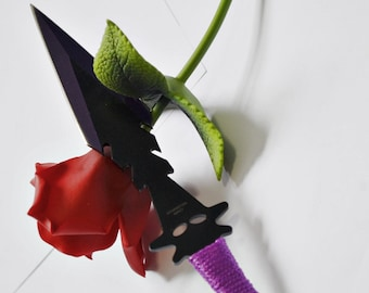 Violet Spear Head knife for Kinky BDSM Knife Play