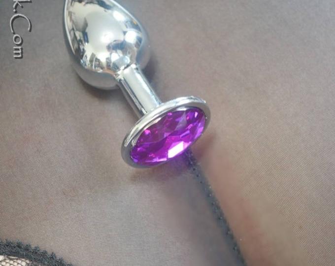 Little Princess Jeweled Butt Plugs in Dark Purple - BDSM Sex Toys