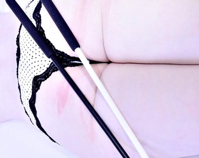 "Black Delrin Cane - 20"" or 30"" - Sexy BDSM Spanking Toy"