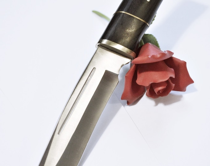 Sophisticated - Silver Blade, Black Polished Grip - Cold Steel - Can Be Dulled for Beginning Knife Play