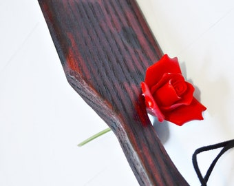 Tainted Love... BDSM Spanking Paddle - Wood Burned Oak