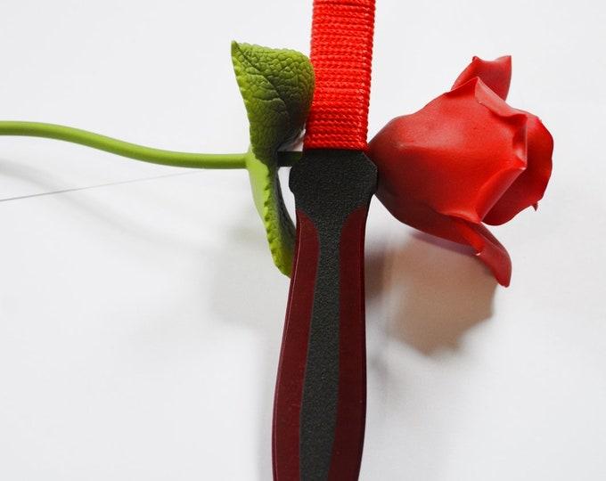 Thin Sharp Crimson Red Knife for BDSM Blade and Sensation Play - Kinky fun times...