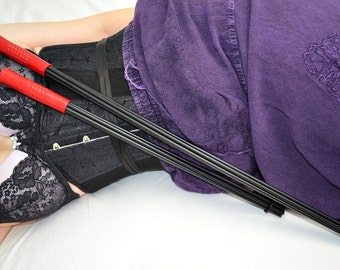 "Goth Cane Whip - 30"" of Evil Whipping Multi Cane - BDSM Spanking Toy"