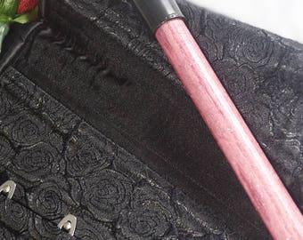 Heavy, Bright Shiny Sparkly Pink, Wood Grained BDSM Spanking Baton