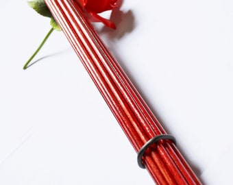"""16"""" Birch Bottom Beaters - Extra Thick for Extra Evil!  Blood Red!  - BDSM Toys"""