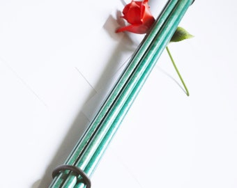 Thick and Heavy - Deep Green Thudder, Inch and a half thick Spanking Tool for BDSM Play