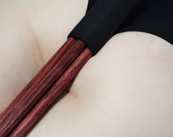 Dark Red Mother Fucker - Heavy Oak Thuddy Spanking Toy for BDSM and Kink Spanking Lovers