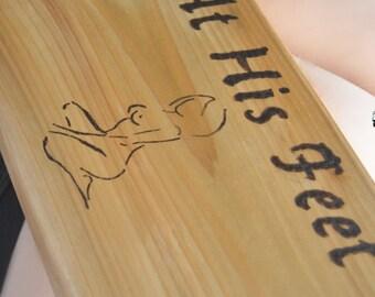 Spanking ART - Heavy Cedar Paddle - Male Dom - Female Slave