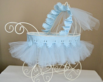 baby carriage vintage baby shower cardholder gold wire etsy